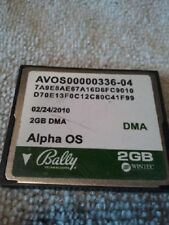 2 Bally alpha OS AVOS00000336-04 2GB DMA CF CARDS 2/24/10 Original USED TESTED