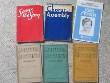 Choral music and music education - vintage songbooks and textbooks from 1940s
