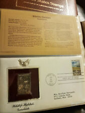 55 Golden Replicas of United States Stamps, 22kt Gold, 1980-1984
