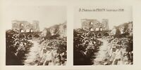 FRANCE Château de Coucy WW1 Guerre Mondiale 1914-1918 Photo Stereo PL61L11n25