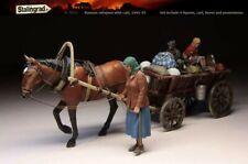 1:35 Russian Refugees World War 2 (WW2) + cart, horse, possessions  Resin Model