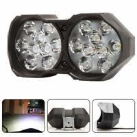 1x 18LED White Motorcycle Headlight Spot Light DRL Driving Fog Lamp Waterproof