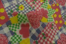 Retro Vintage HEART & FLORAL Themed Fabric (170cm x 69cm)