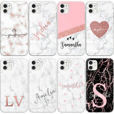 PERSONALISED NAME INITIALS HEART CUSTOM NEW PHONE CASE FOR SAMSUNG S8 S9 S10