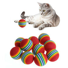 10Pcs Colorful Pet Cat Kitten Soft Foam Rainbow Play Balls Activity Toys Funny