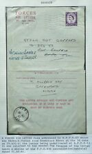 GB 29 AUG 1961 FORCES AIR LETTER SENT FROM GREENFORD, LONDON TO BAHRAIN - SCARCE