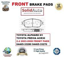 für Toyota Alphard H1 Previa ACR30 2.4 2003-2008 vordere Bremsbeläge 04465-33280