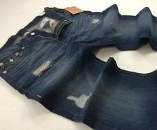 True Religion Men Vtg Washed Distressed Shredded Ripped Bootcut Big Stitch Jeans