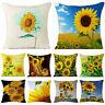 "18"" Sunflower Linen Cotton Throw Pillow Case Cushion Cover Fashion Home Decor"