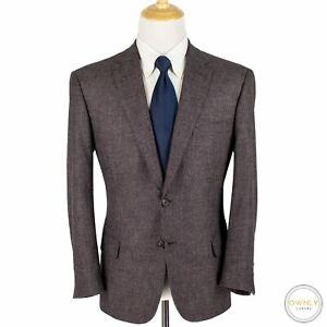 NWOT Brioni Mauve Grey Wool Silk Cashmere Tweed Boucle 2Btn Jacket 44S