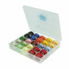 SIMTHREAD 12 RANDOM COLORS Polyester Embroidery Bobbins Thread Type L, 60WT