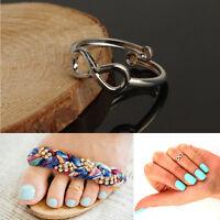 Mujeres moda Simple Retro Joyería ajustable del pie del anillo del dedo del pie