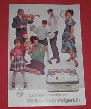 dachbodenfund alt werbe prospekt katalog philips tonband 1963/64 reklame werbung