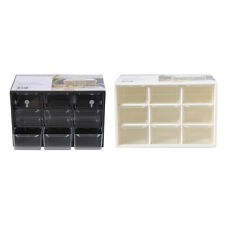 9 Grids Small Drawer Cabinets Jewelry Storage Organizer Box Container Home Decor