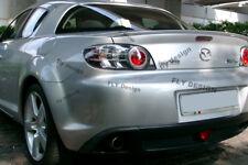 Mazda RX8 Aileron Becquet Alettone Trunk Wing RX 8 Spoiler Flap PAINTED BLACK