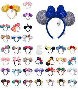 50 Styles Disney Park Belle Mickey Minnie Mouse Ears Bow New Cos Ariel Headband