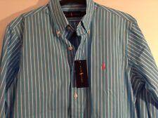 Ralph Lauren Polo Men's Estate NK Blue White Striped Shirt 15