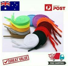 Colourful Shoelaces Colored Flat Bootlace Sneakers Runners Shoe Laces One Pair