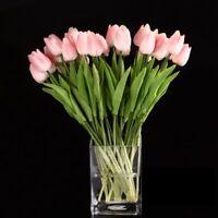 2X(SODIAL (R) 10 Stueck Tulpe Blumen Latex fuer Hochzeit Blumenstrauss Dekor j1n