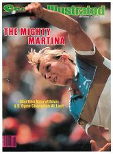 September 19, 1983 Martina Navratilova Sports Illustrated NO LABEL