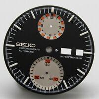 Black Resist Dial For Vintage SEIKO Chronograph UFO 6138 0011 0010 0017 0019