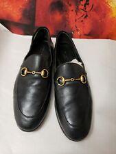 B-430- GUCCI  Women's Brixton Black Leather Size 38  ( 8 US )
