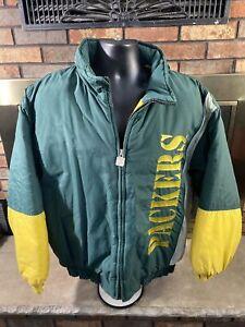 Vintage 90s Green Bay Packers NFL Football Puffer Jacket Mens Size XL Logo 7 VTG