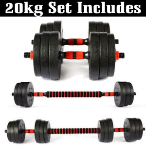 20kg Dumbbells Pair of Gym Free Weight Barbell/Dumbell Body Building Weights Set