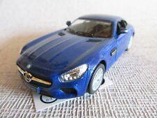 Kinsmart® Mercedes AMG GT Sportwagen blau ca.1/36 Pullbackmotor Neuware wie Bild
