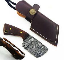 "4.5"" Handmade Damascus Mini Neck Cleaver Knife "" Rose Wood Handle"" (NK02)"