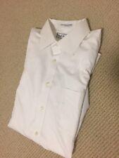 Men's Paul Fredrick Dress Shirt 100% Cotton White Trim Fit Non-Iron Two Ply