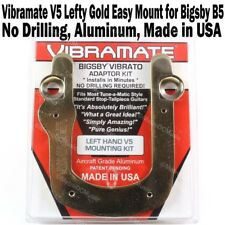 Vibramate V5 LEFT Hand GOLD Les Paul SG Mount Kit Bigsby B5 Tremolo Gibson NEW
