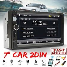 "7"" Car Radio Stereo MP5/ MP3 Player Double 2 Din Bluetooth FM AUX Head Unit 2019"