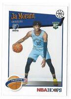Ja Morant Rookie Card 2019-20 Panini NBA Hoops Tribute RC #297 Grizzlies ROY HOT