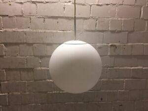 Glashütte Limburg 4527 40cm Glaskugel Große Deckenleuchte Lampe Loft Bauhaus #