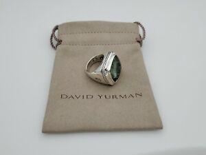 David Yurman Albion Ring with Prasiolite 20x20mm Size 7