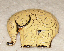 """elephant pin brooch pre-owned 2 1/4"""" tall x 2 1/4"""" wide"""
