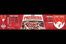 AFL Sydney Swans Premiers 2012 BAR RUNNER MAT RUBBER BACK  Collectors Finals ✔️