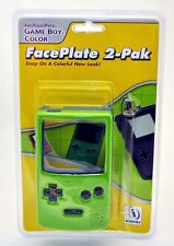 NEW Game Boy Color FacePlate 2-Pack GREEN & BLUE Snap On A Fun Colorful New Look