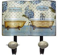 Nostalgie Wandgarderobe Handtuchhalter Badezimmer Hakenleiste Garderobe Metall