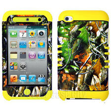 Mossy Oak Camo Yellow Skin Hybrid Hard Cover Case for Apple iPod Touch 4 4th Gen