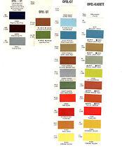 1970 1971 1972 1973 1974 1975 Opel Gt Opel Paint Chips Dz7 70717273Dz 25Pc