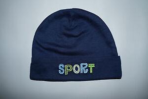 SPORT Kids Baby Hat Cap Dark Blue Green Gerber SAMPLE NEW Toddler Infant NEW
