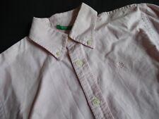 BENETTON Rosa Button Down Hemd Gr.10 140/146