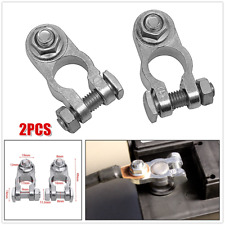 2xCar Battery Terminal Clamps Clips Connector Zinc Pile Head For Boat Van Truck