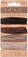 Hemp Cord Set, 4 Colors, Assorted Earthy Colors, 20lb, 30' (9.1m) per Color