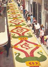 Sitges Flower Carpet in Jesus Street Spain Postcard Unused vgc