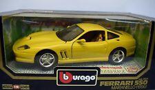 Bburago 1:18 3064.2 Ferrari 550 Maranello, gelb Die Cast