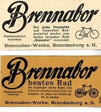 Brennabor-Werke Brandenburg FAHRRÄDER   Historische Reklame von 1908