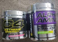 2 BOTTLES! CELLUCOR C4 Extreme Energy AND Alpha Amino Lemon Lime 60 Serv total t